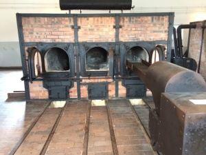Real ovens used to burn bodies of holocaust victims